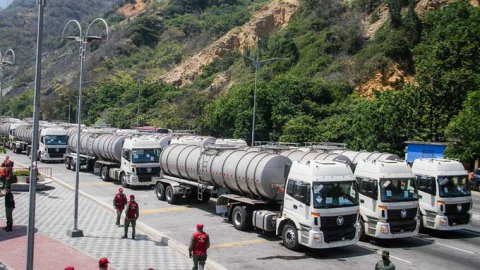 Libre Abordo was to provide hundreds of water trucks in exchange for a reported 30 million barrels of Venezuelan crude. (Archive)